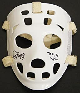 Tony Esposito Signed Throwback White Hockey Goalie Mask w 70, 72, 74 Vezina -...