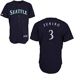 Mike Zunino Seattle Mariners Alternate Navy Replica Jersey by Majestic by Majestic