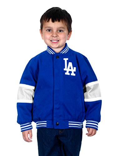 Los Angeles Dodgers Kids Cotton Twill Team Jacket (X-Small) (Varsity Jacket Hooded Light Blue compare prices)