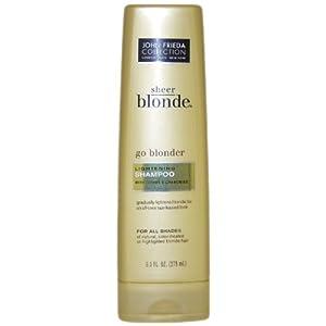 john frieda sheer blonde go blonder lightening shampoo with citrus chamomile 275 ml. Black Bedroom Furniture Sets. Home Design Ideas