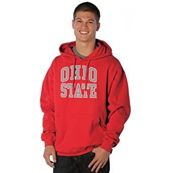 NCAA Ohio State Buckeyes Peerless Nuvola Cotton Sueded Hooded Sweatshirt by Ouray Sportswear