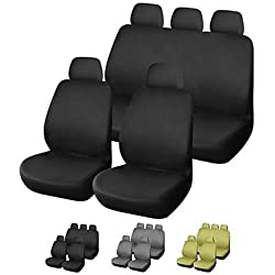 See KLM Universal 9pcs Full Set Styling Car Cover Auto Interior Accessories Car Seat Cover PB Three Colors Available , Black Details