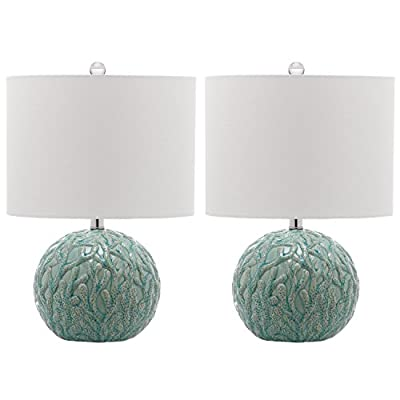 Safavieh Lighting Collection Robinson Light Blue 20-inch Table Lamp (Set of 2)
