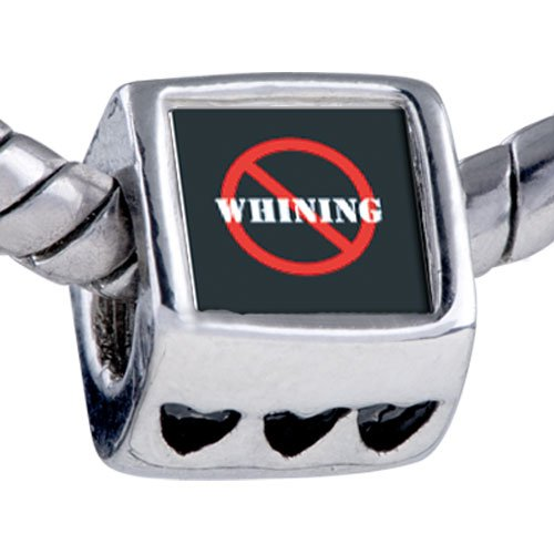 Pugster Bead No Whining Sign Beads Fits Pandora Bracelet