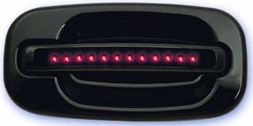 IPCW CLR99B18F1 Black with Red LED and Smoke Lens Front Door Handle with Key Hole on Left Handle - Pair (2006 Gmc Sierra Back Bumper compare prices)