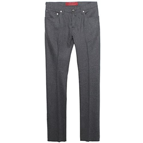 <strong>Jacob Cohen Tailored Fit Wool <strong>Jeans Grey