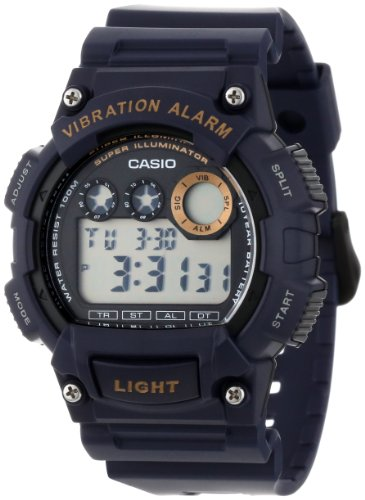 Casio Men's W735H-2AVCF Super Illuminator Blue Watch