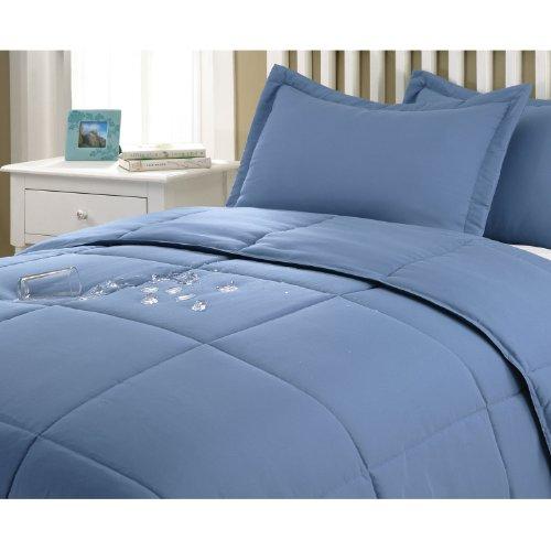 Stayclean Comforter Set, Full/Queen, Smoke Blue front-421387