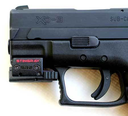 Slim Compact Universal Laser Sight By Arma Laser - Sr2 Stingray For Weaver Picatinny Rails On Compact Sub-compact Pistols Glock Hk Not Usp Ruger Sw Not Sigma Taurus Walther 1911 Springfield Beretta Compact Pistols With Rails from ArmaLaser