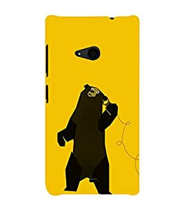 EPICCASE talking bear Mobile Back Case Cover For Nokia Lumia 535 (Designer Case)