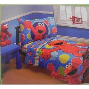 Sesame Street Elmo /& Friends Toddler Sheet Set