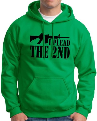 I Plead The 2Nd Hoodie Sweatshirt 2Xl Green