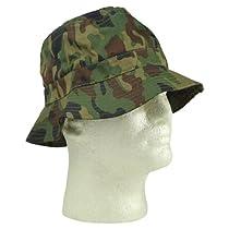 New Blank Hat Camouflage Bucket Hat in Wood