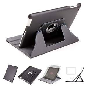 DURAGADGET Housse Etui Rotatif de Luxe en Noir pour Apple iPad 2 Wi-Fi & Wi-Fi + 3G 16 Go 32 Go 64 Go (dernière génération 2011) - vue horizontale ET verticale - Garantie 5 ans
