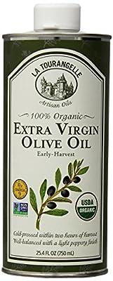 La Tourangelle 100% Organic Extra Virgin Olive Oil - For Olive Oil Lovers - Cold-Pressed, Non-GMO - 25.4 Fl. Oz.