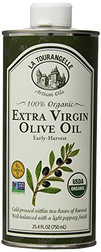 La Tourangelle 100% Organic Extra Virgin Olive Oil - For Olive Oil Lovers - Cold-Pressed, Non-GMO  - 25.4 Fl. Oz.