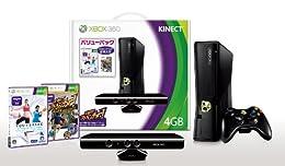 Xbox 360 4GB + Kinect バリューパック(Kinectゲーム2本同梱)