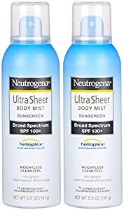 Neutrogena Ultra Sheer Body Mist Sunscreen SPF 100+-5 oz, 2 pk