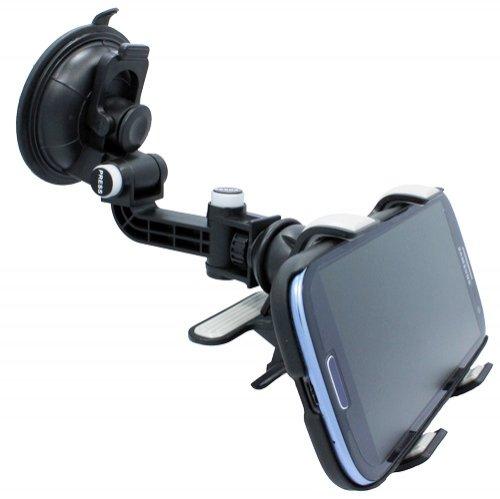 Universal Multi-Angle 360 Degree Rotating Clip Car Window Mount Windshield Phone Holder For Verizon Lg Spectrum 2 - Verizon Lg Enlighten Vs700 - Verizon Lg Revolution Vs910 - Verizon Motorola Droid A855