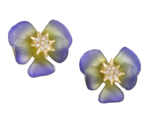 ALEXIS BITTAR- Periwinkle Ophelia Pansy Post Earrings