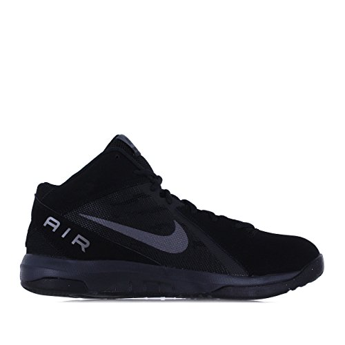 Nike Men's The Air Overplay IX NBK Black/Mtlc Dark Grey Anthrct Basketball Shoe 12 Men US
