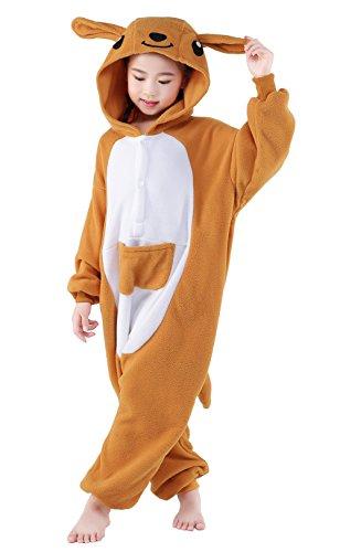 [NEWCOSPLAY Children Onesie Cosplay Costume Pajamas (L, Kangaroo)] (Childrens Kangaroo Costume)