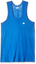 Rupa Frontline Men's Cotton Vest (890397845107) (Frontline-Sky Blue-90)