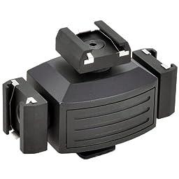 Opteka VB-30 Video Accessory Shoe Tripler Bracket for DSLR Cameras and Camcorders