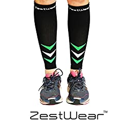 Calf Compression Sleeve by ZestWear - Compression Sleeves for Calves - Shin Splints