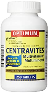 Optimum Centravites Multivitamin/Multimineral, with Lutein & Lycopene, 250 Tablets