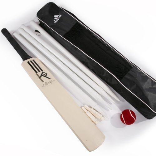 Adidas Kevin Pietersen Junior Cricket Bat, Ball And Stump Set (V87539) rrp£35