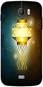 Snoogg Beautiful Illuminating Diya Background For Hindu Community Festival Diwali Designer Protective Back Case Cover For Micromax A110
