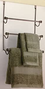 Amazon.com - Over The Door Towel Rack - Oil Rubbed Bronze ...