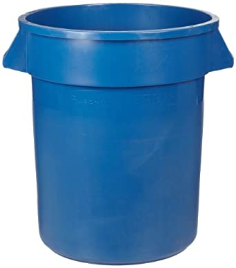 Rubbermaid Commercial Brute Plastic Recycling Container without Lid, Round