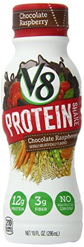 V8 Protein Shakes, Chocolate Raspberry, 10 Ounce (Pack Of 4)