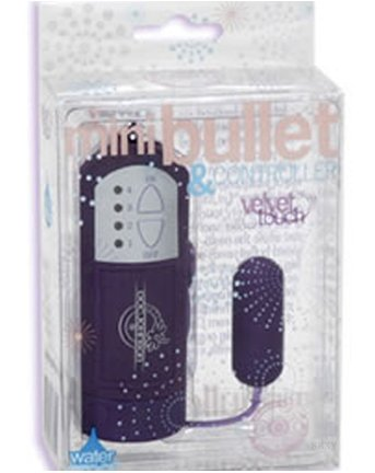 Doc Johnson Velvet Touch Mini Bullet & Controller Vibe, Purple 1 ea