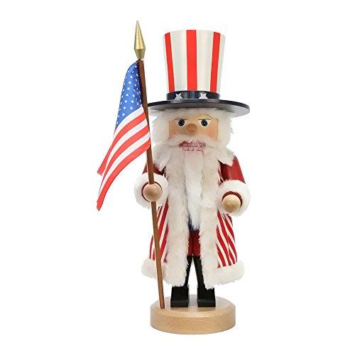 "0-641 – Christian Ulbricht Nutcracker – Uncle Sam – 17″""H x 6″""W x 7″""D"