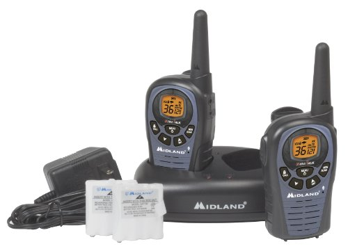 Midland LXT490VP3 26-Mile 36-Channel FRS/GMRS Two-Way Radio, Pair (Black)