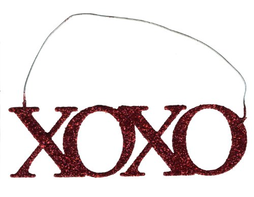 PBK Tin Metal Miniature Ornament – Valentines XOXO Hugs & Kisses #9299