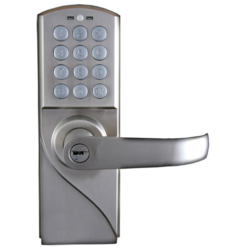 Lockstate Ls-Rdj-R-S 10-Code Keyless Digital Door Lock, Right-Hand, Silver