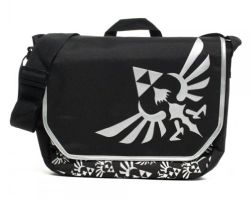 Nintendo Zelda Triforce Black/Silver Laptop Bag