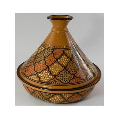 Le Souk Ceramique Ct-Miel-22 Cookable Tagine, 9-Inch, Honey Design front-607932