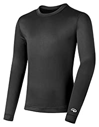 Duofold by Champion Varitherm Mid-Weight 2-Layer Kids\' Thermal Shirt_Black_Large