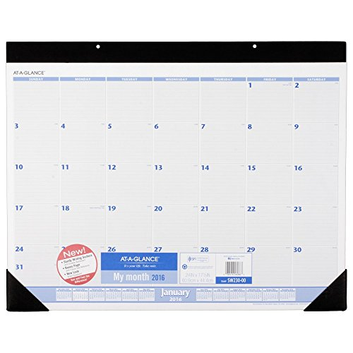 AT-A-GLANCE Desk Pad Calendar 2016, 12 Months, 24 x 17-1/2 Inches (SW230-00)