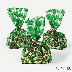 Shamrock Goody Bags - Party Favor & Goody Bags & Cellophane Treat Bags