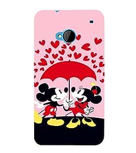 EPICCASE Mick and Mini Mobile Back Case Cover For HTC One M7 (Designer Case)