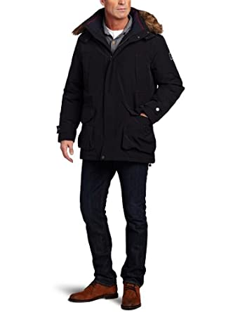 Nautica Men's Navigator Down Jacket, True Black, Medium