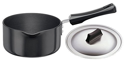 Futura L95 Hard Anodised Sauce Pan 1-1/2-Litre with Steel Lid and Pouring Spout, 1.59 Quart