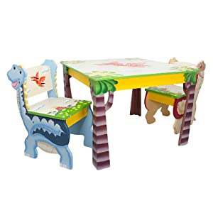Fantasy Fields - Dinosaur Kingdom Table & Set of 2 Chairs