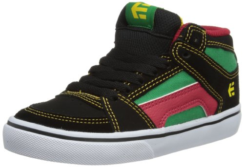 Etnies Unisex-Child Kids RVM Vulc Trainers 4301000083 Green/Black/White 1 UK, 34 EU, 2 US